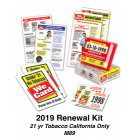 2019 RENEWAL KIT - Age 21 Tobacco California Only