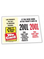 2022 Age of Purchase Sticker - Tobacco/Alcohol 21 Year