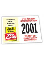 2022 Age of Purchase Sticker - Tobacco, Vapor - 21 Year