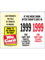 2020 Age of Purchase Sticker - Tobacco/Alcohol 21 year