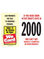 2021 Age of Purchase Sticker - Tobacco, Vapor - 21 Year
