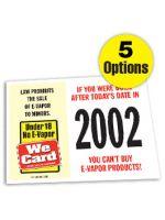 2020 Age of Purchase Sticker - E-Vapor
