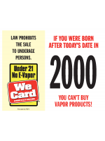 2021 Age of Purchase Sticker - Age 21 E-Vapor