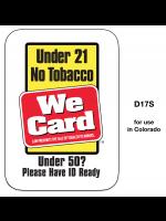 3x4 Sticker Tobacco 21 Year / Under 50