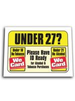 Under 27? Tobacco and Alcohol ID Reminder Decal