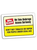We Take Underage Access Seriously Decal