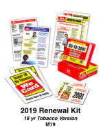 2019 RENEWAL KIT - Age 18 Tobacco