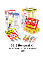2019 RENEWAL KIT - Age 18/21 Tobacco/Alcohol