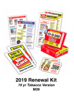 2019 RENEWAL KIT - Age 19 Tobacco