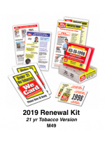 2019 RENEWAL KIT - Age 21 Tobacco