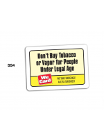 Don't Buy Tobacco or Vapor for People Under Legal Age Decal