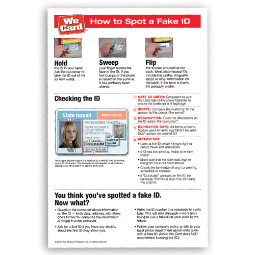 How to Spot a Fake ID Tip Sheet