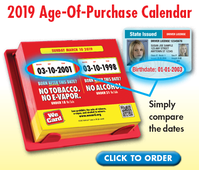 2019 Age-Of-Purchase Calendar