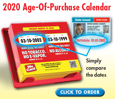 2020 Age-Of-Purchase Calendar