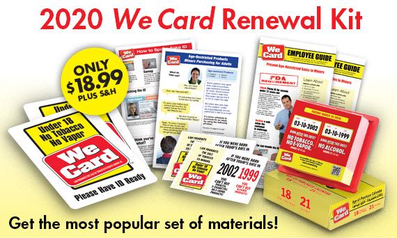 2020 We Card Renewal Kit