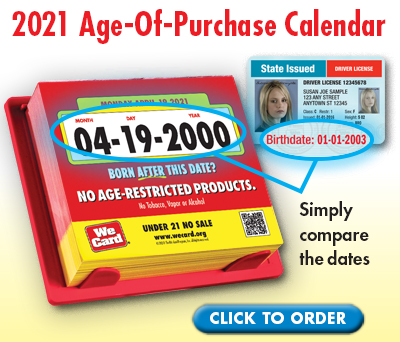2021 Age-Of-Purchase Calendar