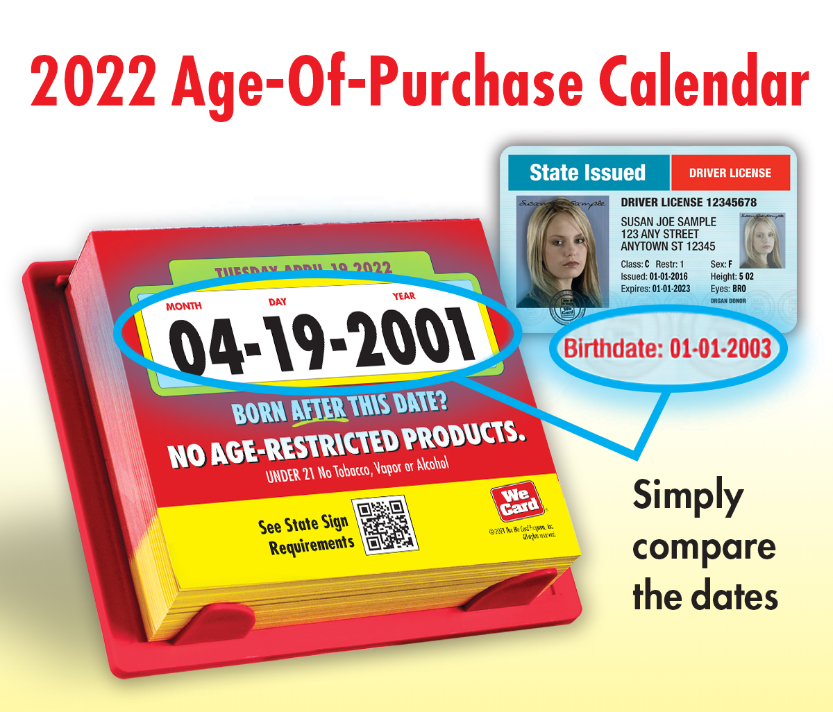 2022 Age-Of-Purchase Calendar